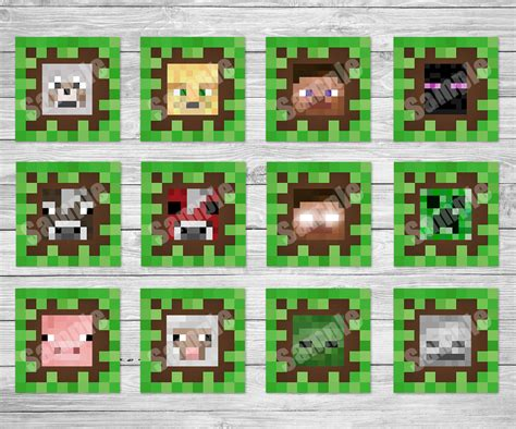 printable images minecraft minecraft printable cupcake toppers minecraft printables