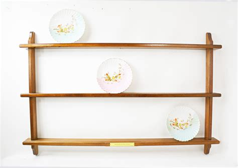 Wooden Plate Display Rack vintage plate rack plate display rack wooden wall rack wall