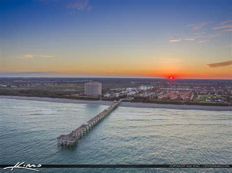 juno beach pier sunset  ocean