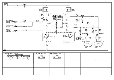 mazda protege headlight wiring diagram mazda free engine