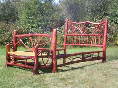 log frame beds adirondack rustic bed frames birch abrk dressers rustic