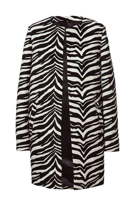 zebra pattern fashion zebra pattern jacquard coat coats woman zara united