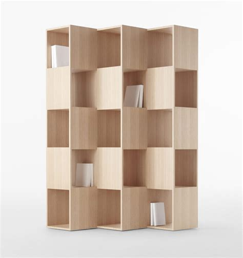 shelves design nendo wooden fold shelf for conde house