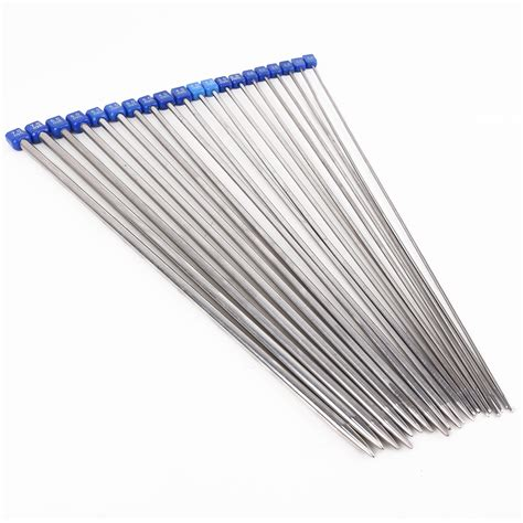 knitting needle 22pcs 36cm stainless steel single pointed crochet knitting