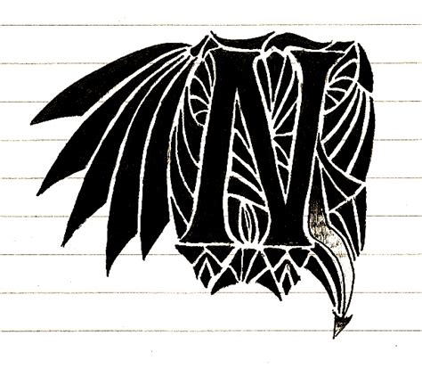 tattoo design letter n tattoo design letters n best home decorating ideas