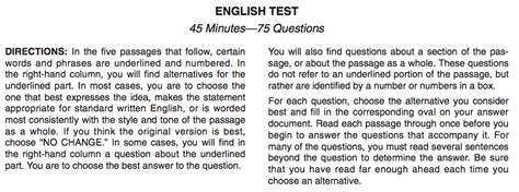 sat english section the complete act instructions expert guide and tips