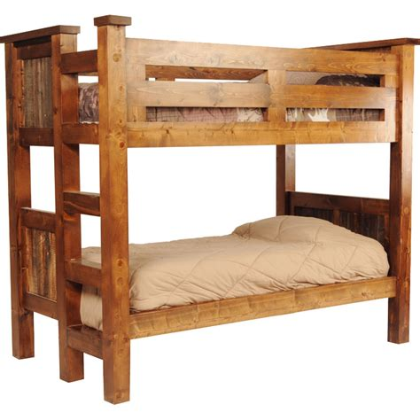 bunk bed wood rustic wyoming reclaimed wood bunk bed
