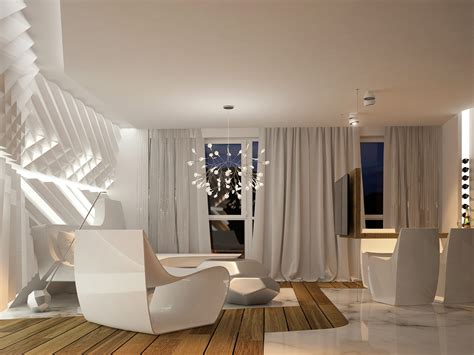 interior of a home futuristic interior design