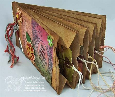How To Make A Paper Bag Scrapbook - paper bag scrapbook scrapbooking