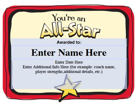 softball award certificate template best photos of certificates for youth baseball players