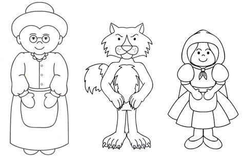 caperucita roja dibujos animados en dibujos para colorear de caperucita roja caperucita roja