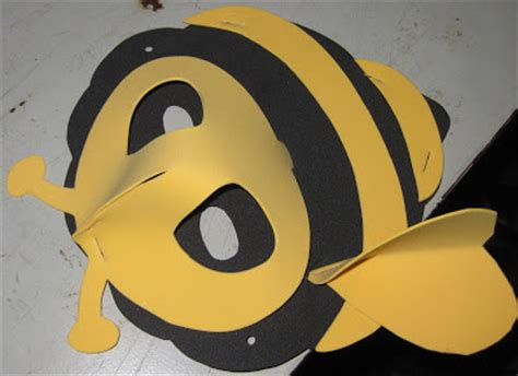 printable bee mask template crafts for creative hands bee mask