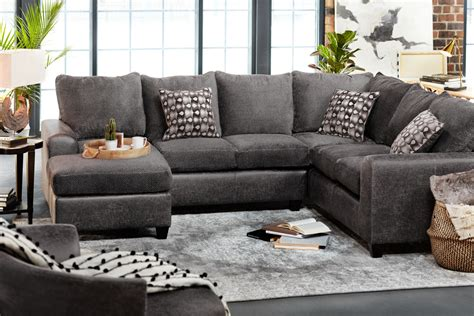 Furniture Sectional by Brando 3 Sectional With Modular Chaise Smoke
