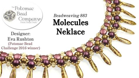 Best Seed Bead Jewelry 2017   Molecules Necklace Design Tutorial (1st Place PBC Challenge 2016