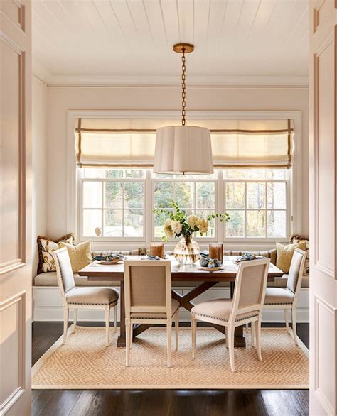 dining room seating banquette window seat transitional dining room carolina design associates