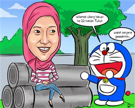 karikatur ulang tahun tema doraemon jasa karikatur terbaik more