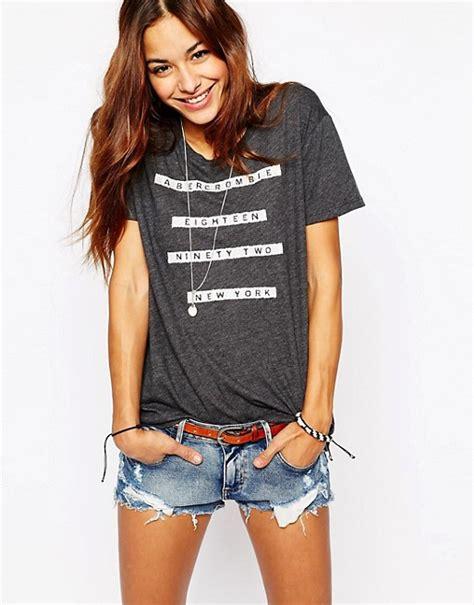 T Shirt Abercrombie 1892 Black abercrombie fitch abercrombie fitch t shirt with 1892 new york logo