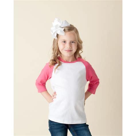 Raglan Pink by Unisex Pink And White Raglan Shirt