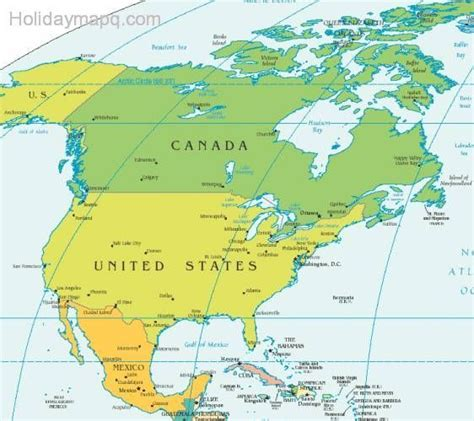 map of the united states canada united states mexico map thefreebiedepot