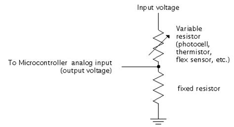 variable voltage resistor sensor workshop at itp schematics voltage divider