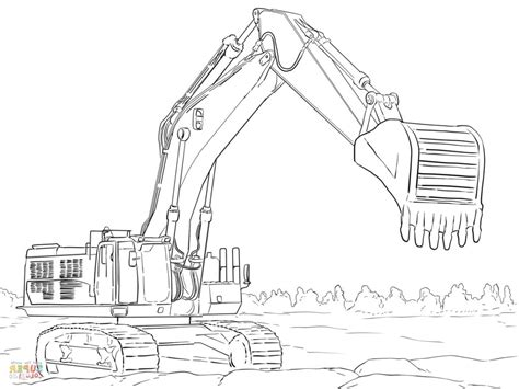excavator coloring pages printable excavator coloring book coloring pages