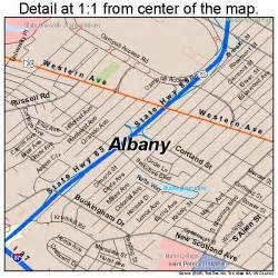 Albany New York Map by Albany New York Street Map 3601000