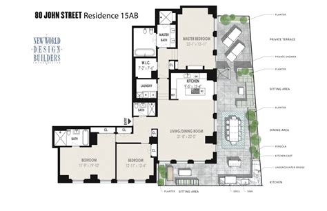 80 john street floor plans town real estate showcase dreamy fidi home things to do