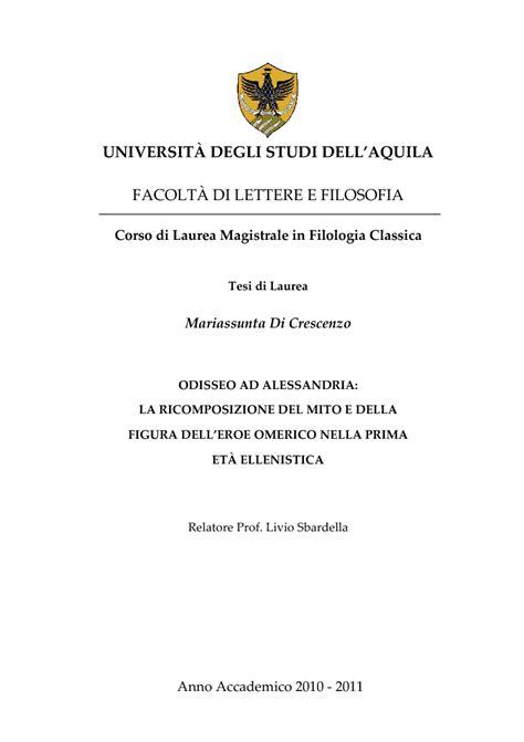 universit 192 degli studi dell aquila facolt 192 di lettere e