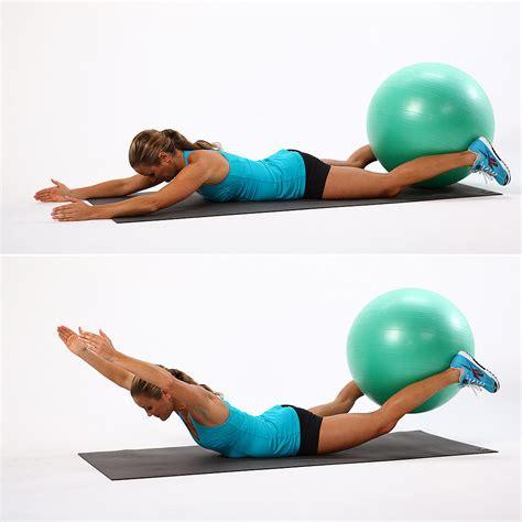 exercises     stability ball popsugar fitness australia