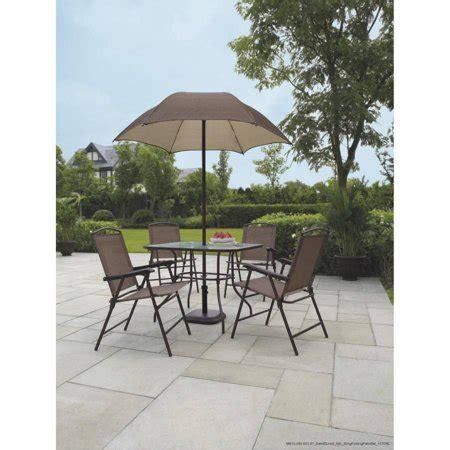 mainstays wicker 5 patio dining set seats 4 mainstays sand dune 6 folding patio dining set with