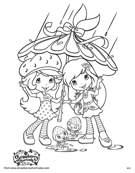 coloring pages may flowers strawberry shortcake coloring sheet april showers bring