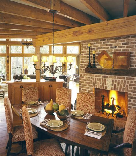 Kitchen Dining Room Fireplace Dining Rooms With Fireplaces The Decorating Files