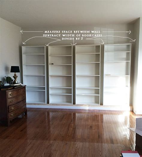 How To Build Diy Built In Bookcases From Ikea Billy How To Make Built In Shelves