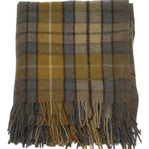highland scottish 100 wool tartan rug blanket throw