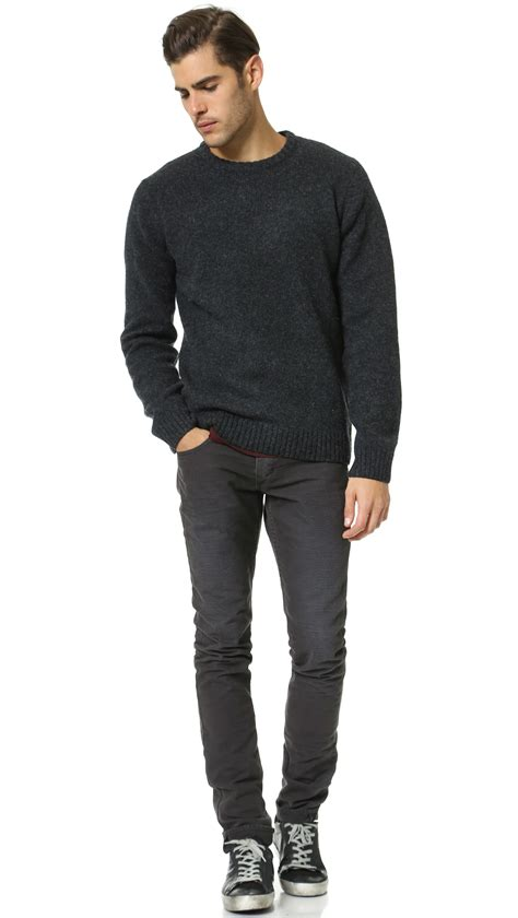 Sweater Carhart Roffico Cloth carhartt wip sweater in black for lyst