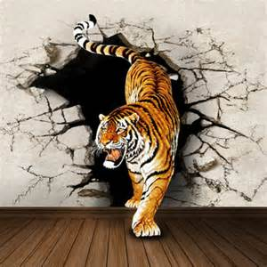 Tiger Wall Mural aliexpress com compre mural 3d tridimensional papel de