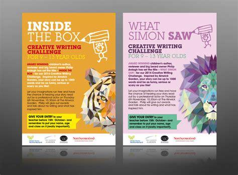design leaflets free creative writing book club kids alnwick leaflet design
