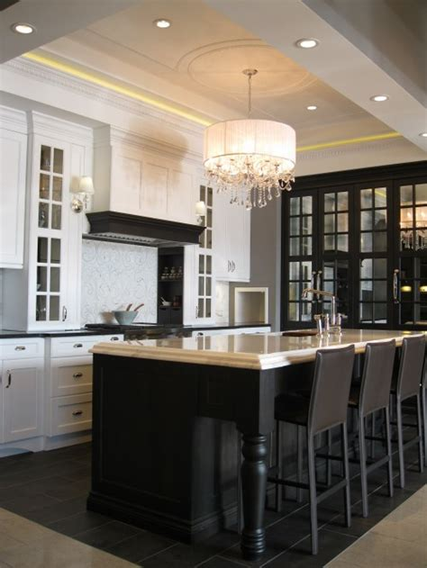 black island kitchen black and white kitchen design decor photos pictures