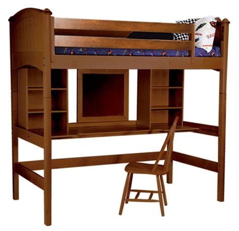 Cooley Study Twin Loft Bed In Cherry Rosenberryrooms Com Study Loft Bunk Bed