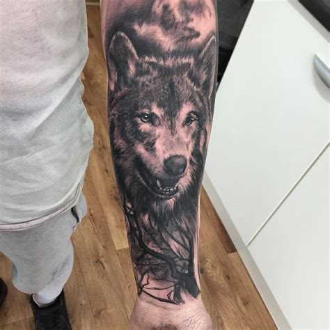 wolf sleeve tattoos wolf in the woods ideas for best