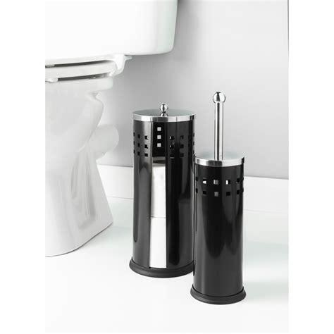 bathroom toilet roll holder sets b m toilet brush roll holder set 2pc 324322 b m