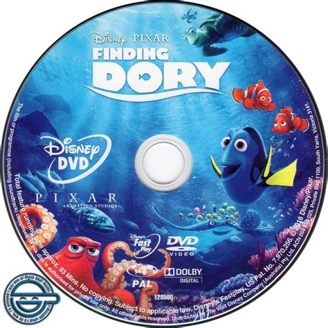 with dvd finding dory dvd label 2016 r4