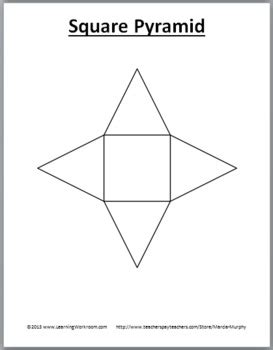 3d shapes and their nets geometry posters, printables