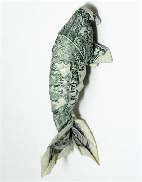 Origami Dollar Koi - 17 best images about origami on dollar bills
