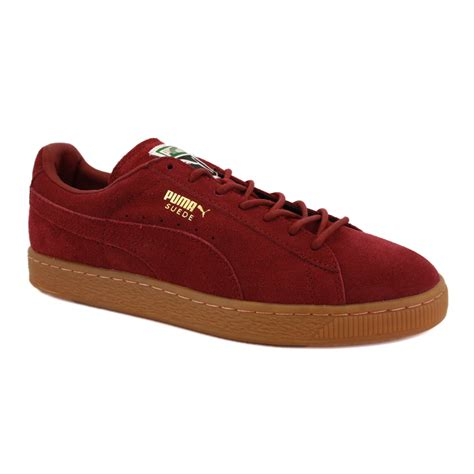 Suede Shoes by Suede Classic Eco 355049 01 Mens Laced Suede Trainers