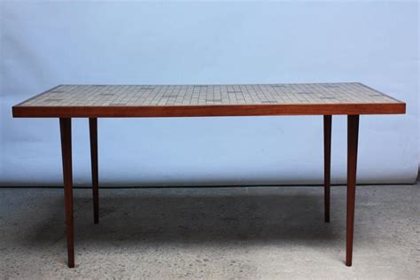 Tile Top Dining Room Table by Martz For Marshall Studios Tile Top Dining Table For Sale