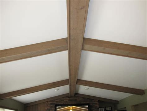 suggestions on painting or staining wood beams