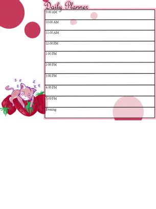 printable unmarked calendar cute kitty daily calendar