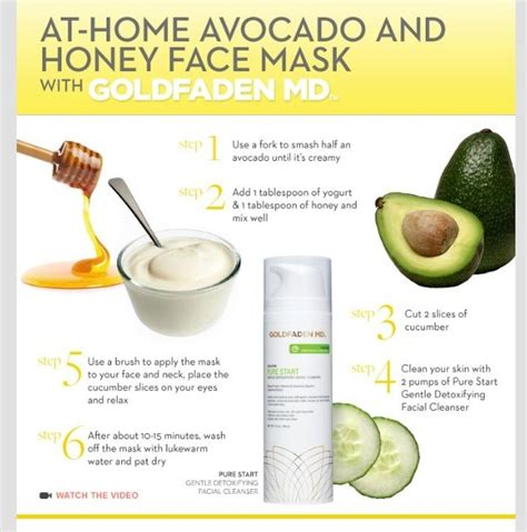 at home avocado and honey mask enjoy and like
