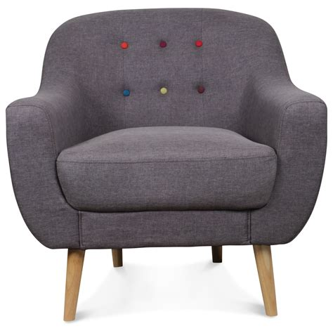 siege scandinave fauteuil crapaud scandinave gris boutons color 233 s bjort